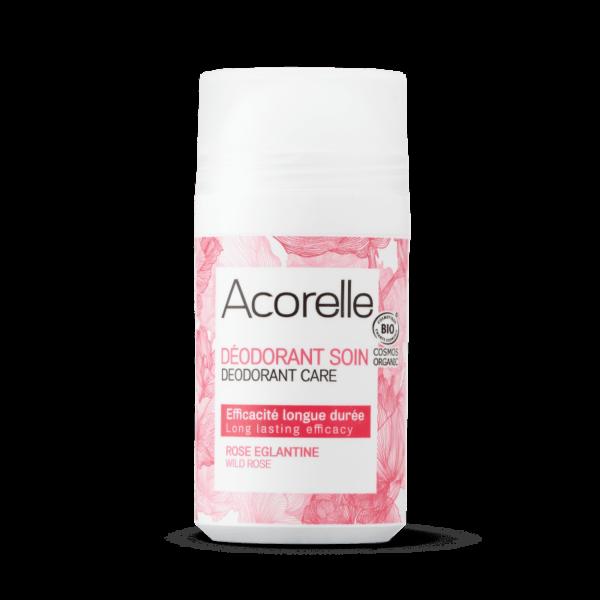 Acorelle deodorant roll-on bio rose eglantine