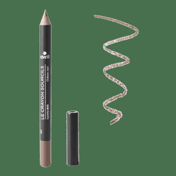 Crayon Sourcils Châtain Clair Bio - Avril