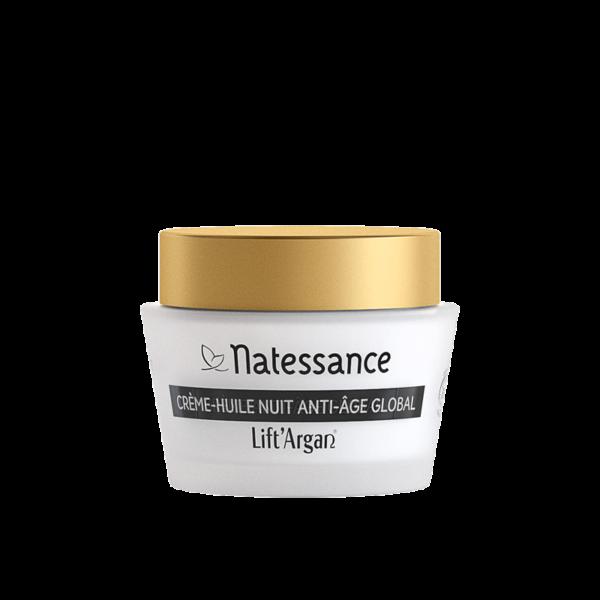 Crème-Huile Nuit Anti-Âge Global Bio - Lift Argan / Natessance