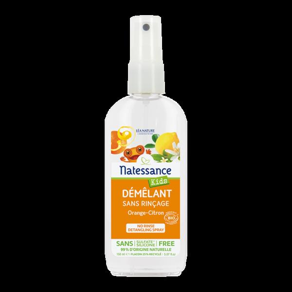 Démêlant Sans Rinçage Kids Orange-Citron - Tous Types de Cheveux - Bio - Natessance