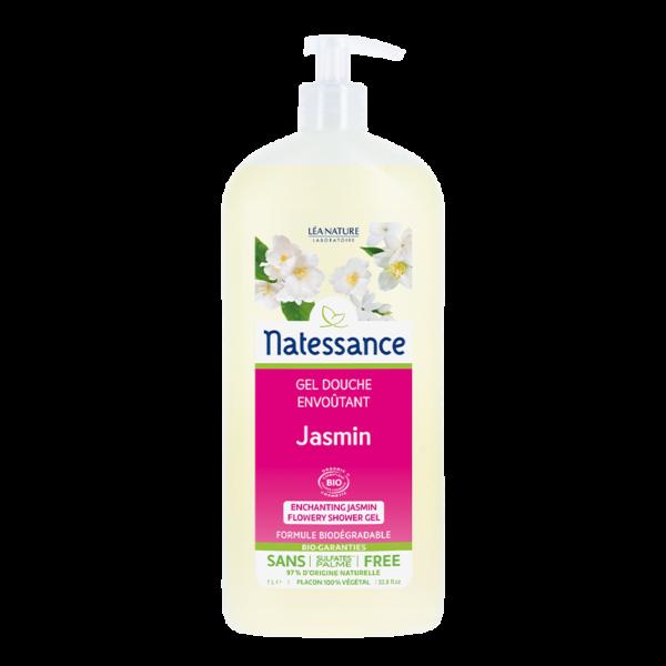 Gel Douche Jasmin - Sans Sulfates - Tous Types de Peaux Bio - Natessance