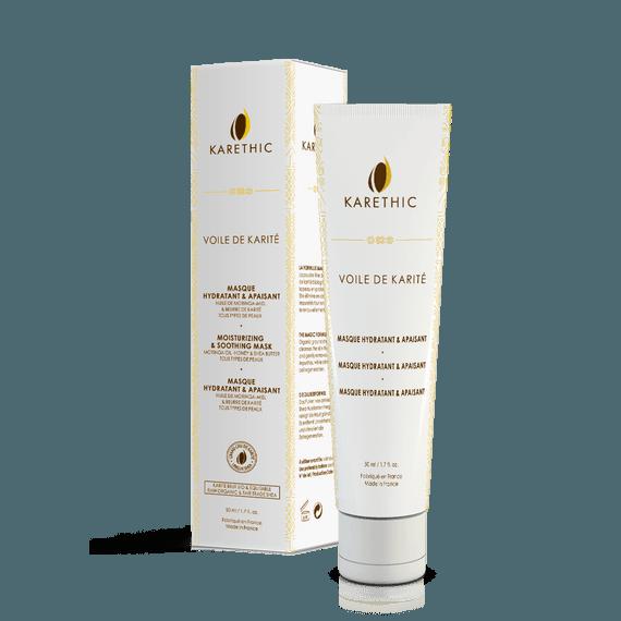 Masque Visage Apaisant & Revitalisant - Voile de Karité Bio - Karethic