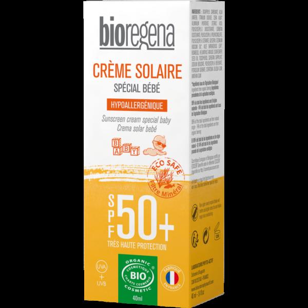 Crème Solaire Bébé SPF50+ Bio - Bioregena