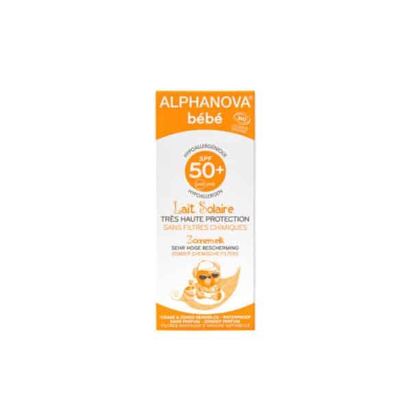 Creme solaire bebe bio hypoallergenique SPF 50 - Alphanova