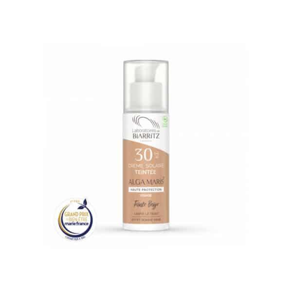 Creme solaire visage Bio SPF30 - teintee Beige