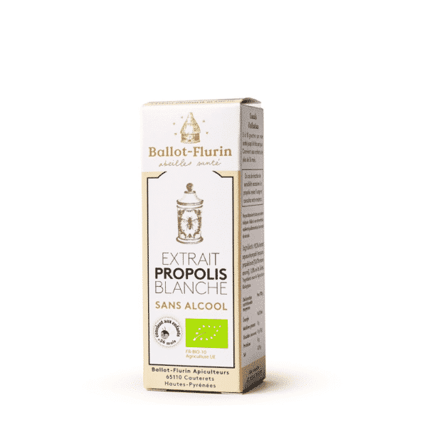 Extrait de Propolis blanche bio sans alcool - Ballot Flurin