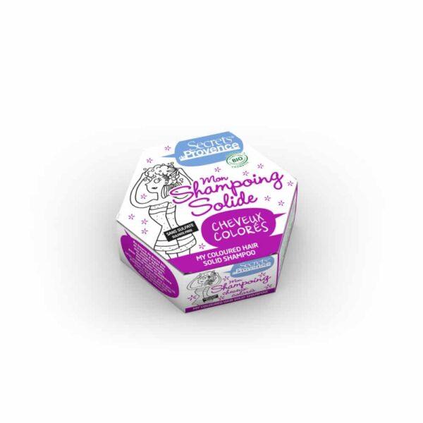 Mon Shampoing solide certifié Bio Cheveux Colorés - Secrets de Provence