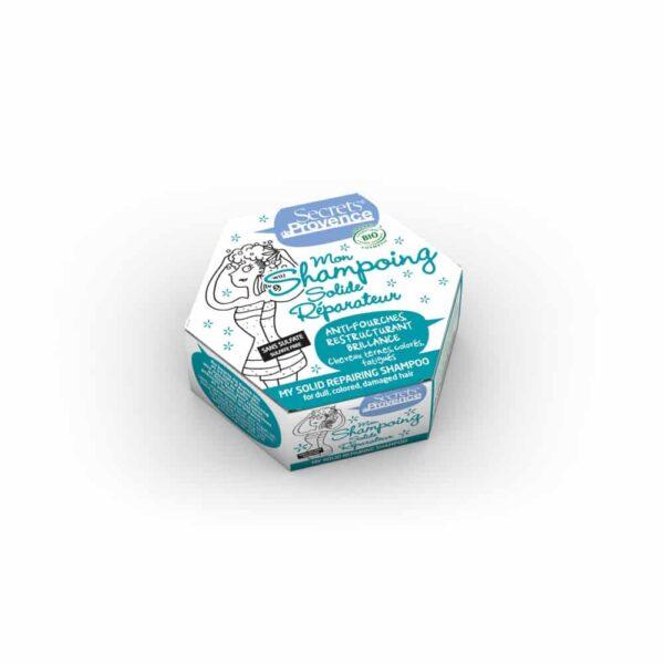 Mon Shampoing solide réparateur certifié Bio cheveux abimés - Secrets de Provence