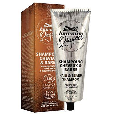 Shampooing Homme Barbe & Cheveux Bio - Hairgum Origines