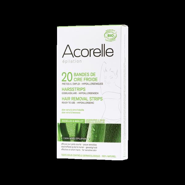 Bandes de Cire Froide Aisselle-Maillot X20 Bio - Acorelle