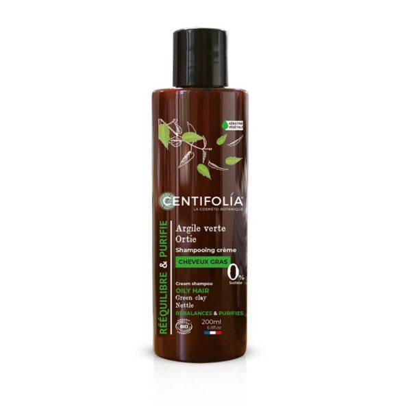 Shampooing Crème Cheveux Gras Bio - Centifolia