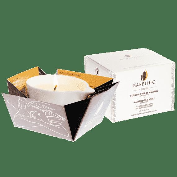 Bougie de Massage au Karité Pur – Parfum Mangue Bio - Karethic