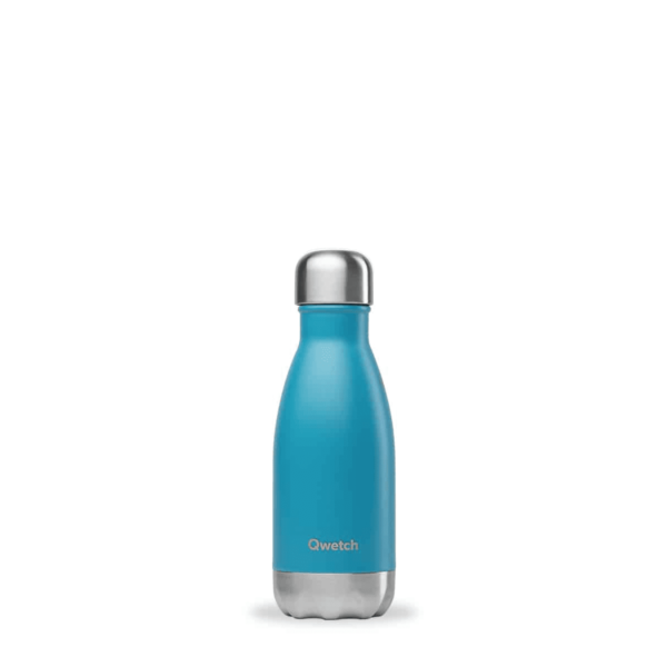 Bouteille nomade bleu turquoise isotherme 260ml - Qwetch