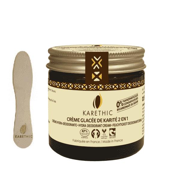 Crème Glacée de Karité 2 en 1 - Hydra Déodorante Bio - Karethic