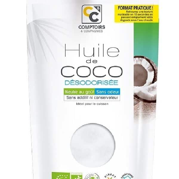 Huile de Coco Désodorisée Bio 250ml - Comptoirs et Compagnies