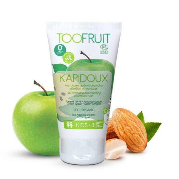 Kapidoux, Après Shampooing Pomme Verte Amande Bio - 150ml Bio Toofruit