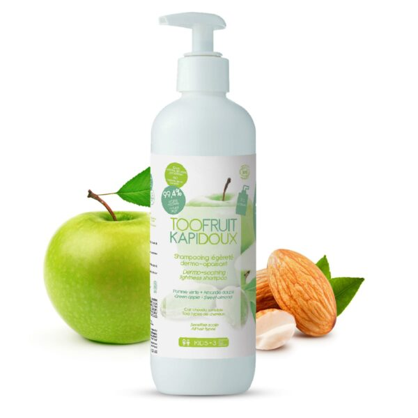 Shampooing Pomme Verte Amande Douce Bio - 400ml Bio Toofruit