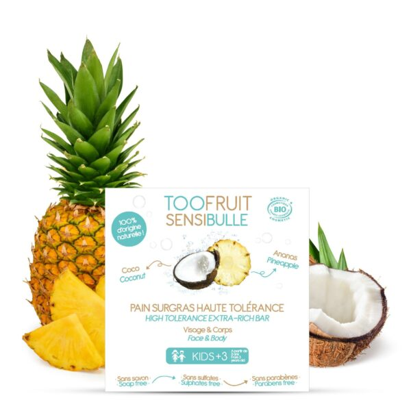 Sensibulle Pain Dermatologique Ananas Coco Bio - 85g Bio Toofruit