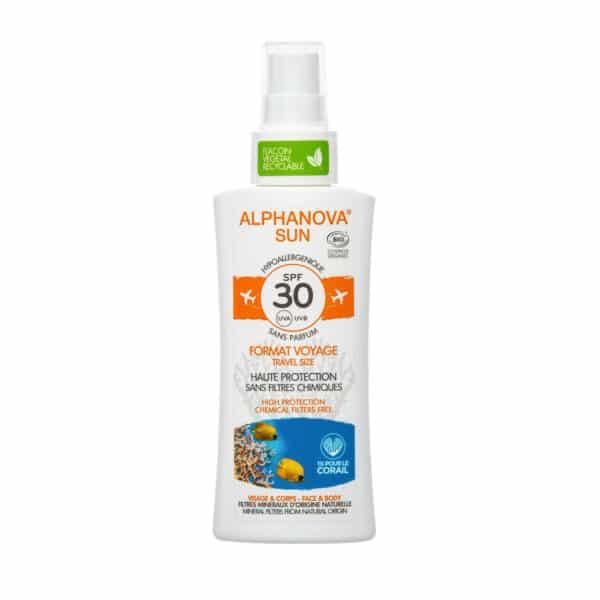 Crème Solaire Hypoallergénique Format Voyage SPF30 Bio - Alphanova