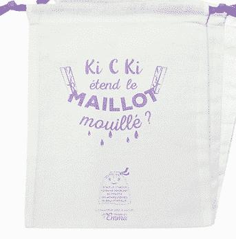 Sac à Maillot Mouillé Violet Bio - Les Tendances d'Emma