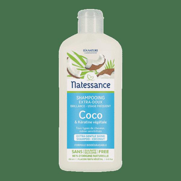 Shampooing Extra-Doux Coco - Cheveux Normaux à Secs Bio - Natessance