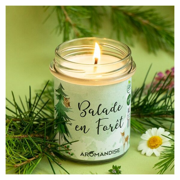 Bougie Balade En Forêt Bio Aromandise