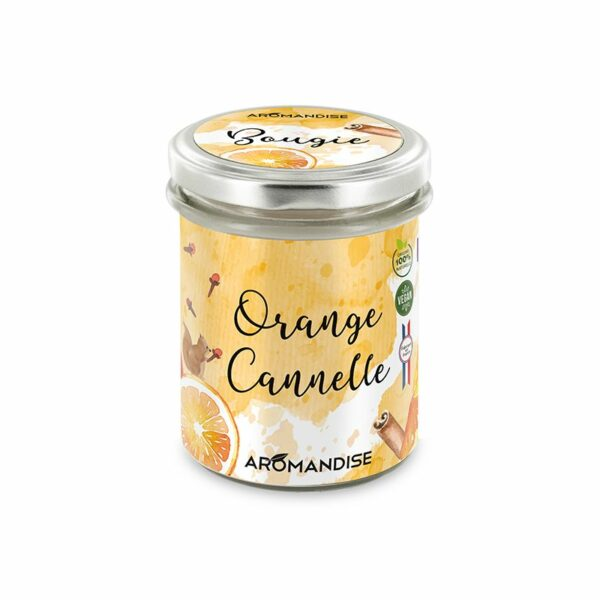 Bougie D'Ambiance Orange Cannelle Bio Aromandise