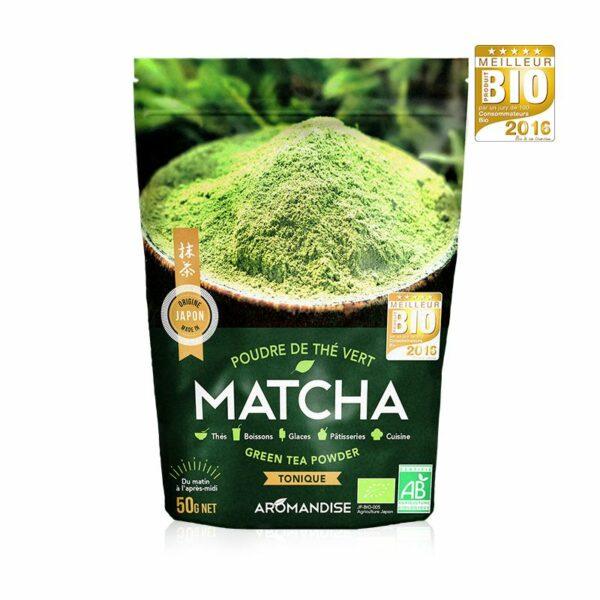Poudre Thé Vert Matcha Bio Aromandise