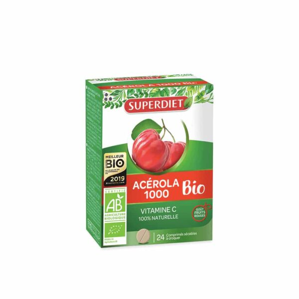 Acerola 1000 Bio 24 comprimes - SuperDiet