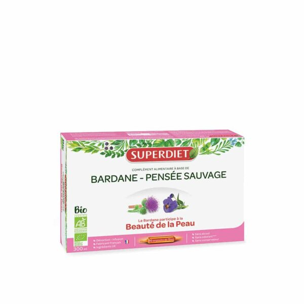 Bardane Pensee sauvage Bio ampoules - SuperDiet