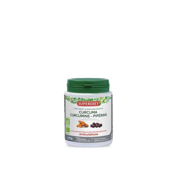 Curcuma Curcumine Piperine Bio gelules - SuperDiet