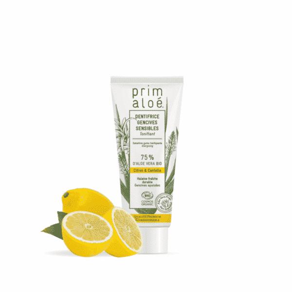 Dentifrice Citron Gencive Sensible Aloe Vera - Prim Aloe