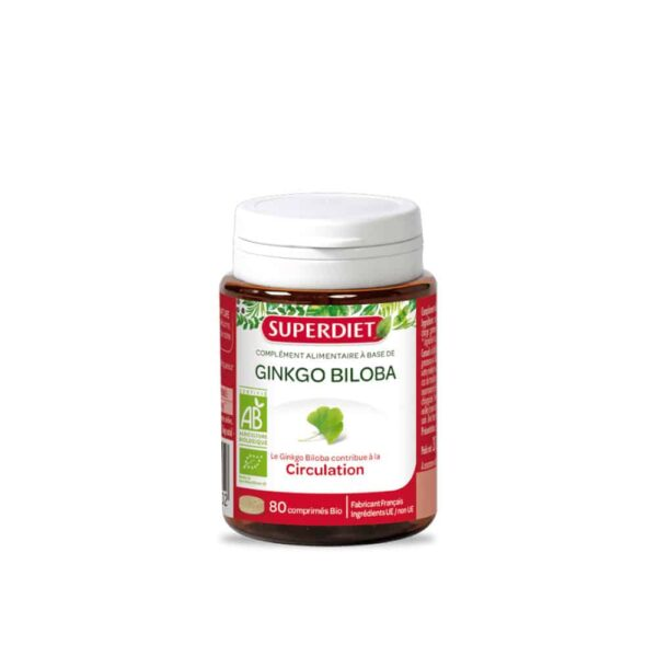 Ginkgo Biloba Bio capsules - SuperDiet