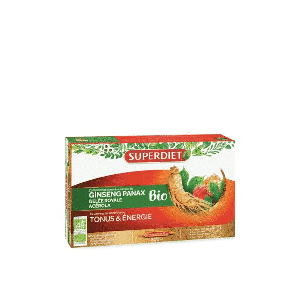 Ginseng Panax - Gelée Royale - Acérola Bio - SuperDiet