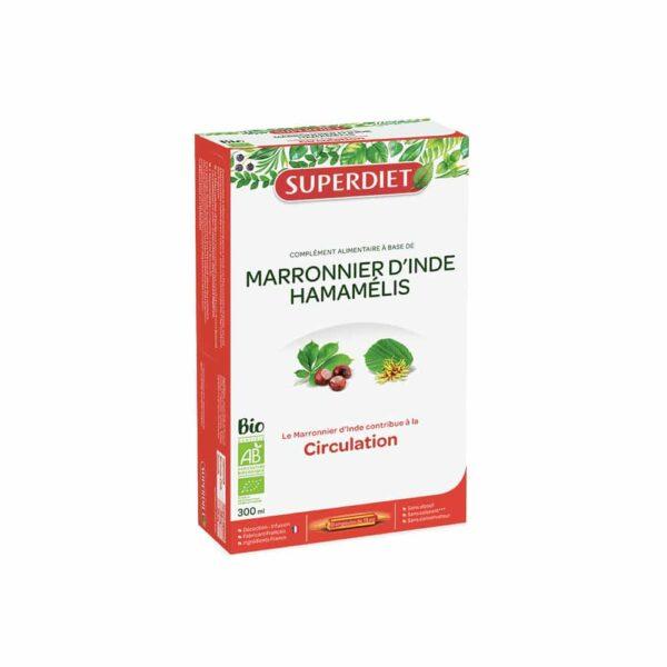 Marronnier Inde Hamamelis Bio ampoules - SuperDiet