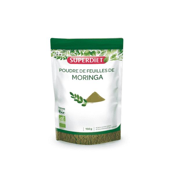 Poudre de feuille de Moringa BIO - SuperDiet