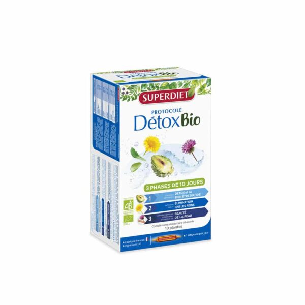 Protocole Detox Bio ampoules - SuperDiet