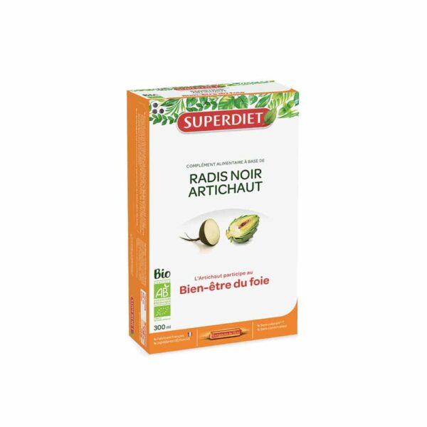 Radis noir Artichaut Bio ampoules - SuperDiet