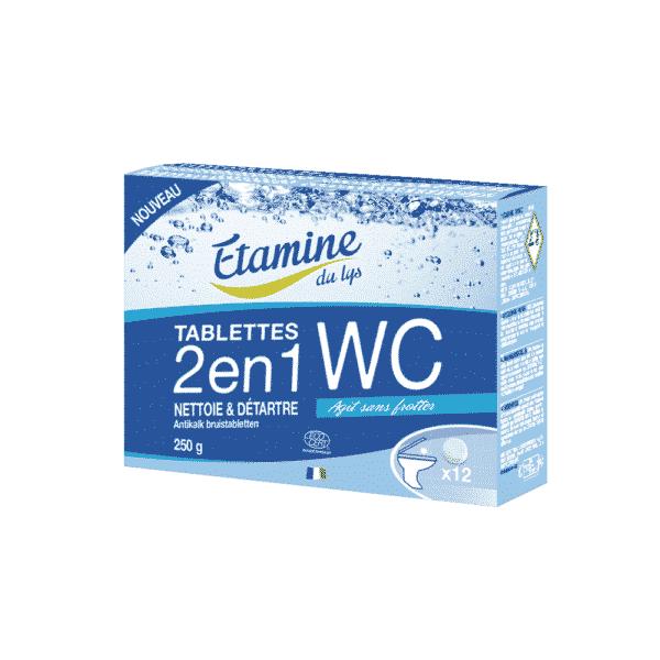 Tablette WC 2 en 1 Nettoie et Détartre - Etamine du Lys