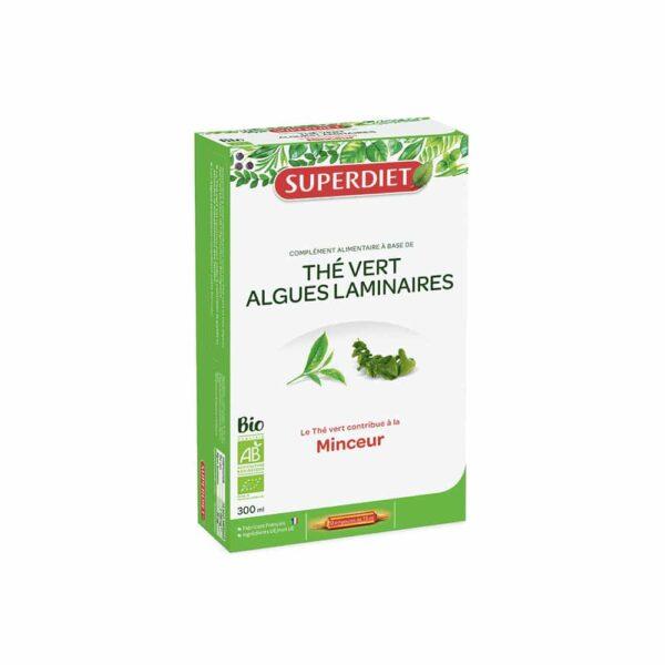 The Vert Algue laminaire Bio ampoules - SuperDiet