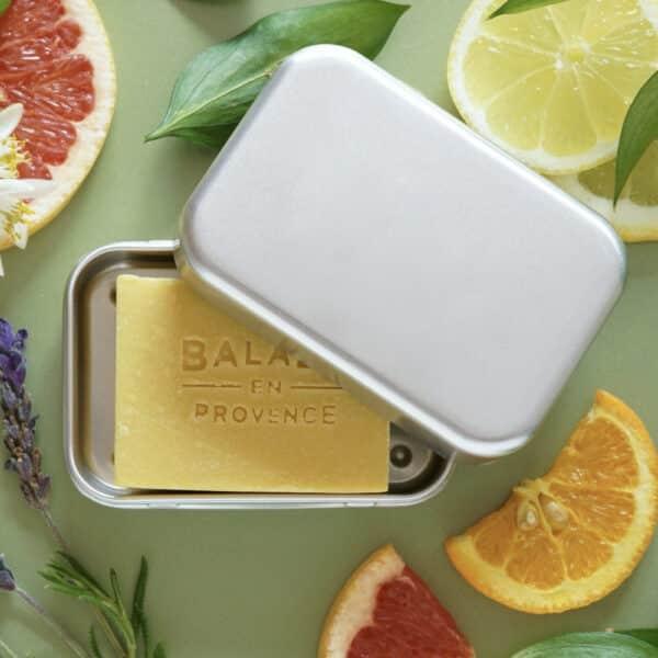 Boite de voyage savon en aluminium - Balade en Provence