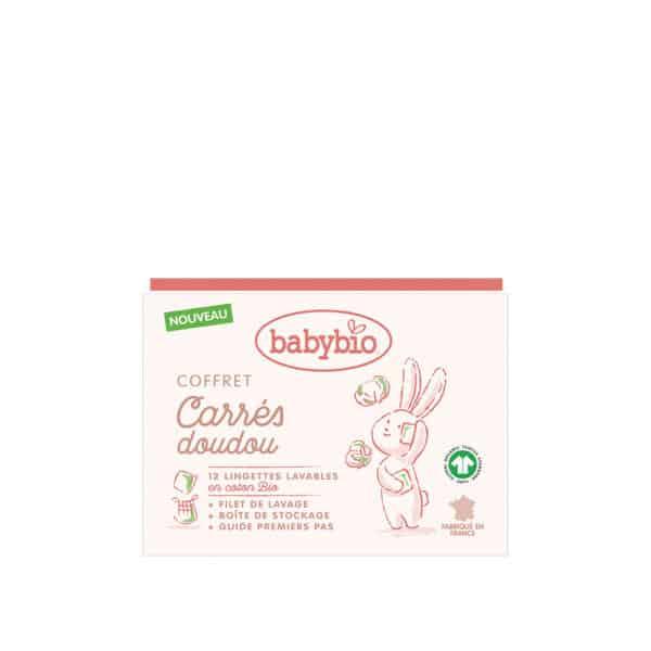 Coffret carré doudou BIO - 2 lingettes + filet de lavage - BabyBio