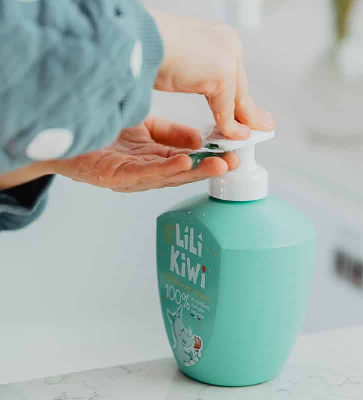 Gel lavant mains enfant Lilikiwi