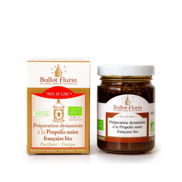 Miel de Cure propolis noire francaise bio - Ballot Flurin