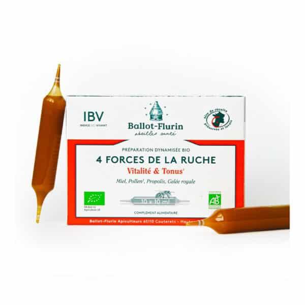 Preparation dynamisee Bio 4 Forces de la Ruche ampoules - Ballot flurin