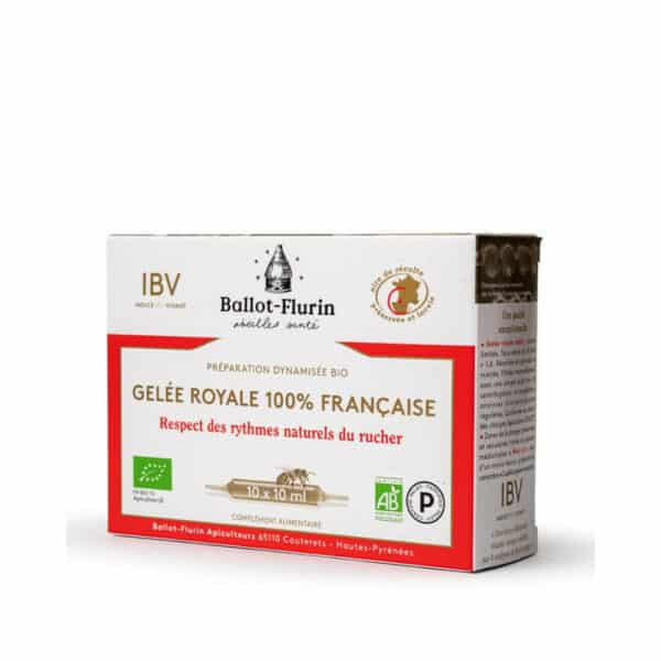 Preparation dynamisee Bio gelee royale ampoules - Ballot flurin