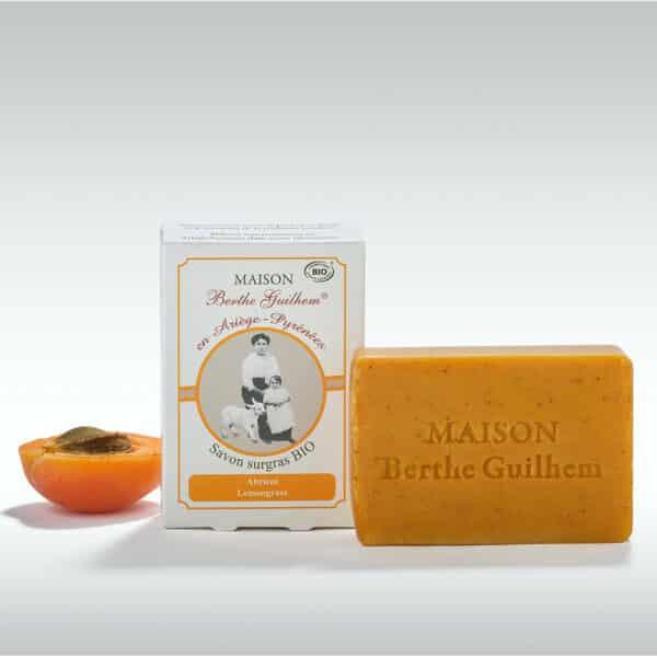 Savon au Lait de Chevre Bio Abricot Lemongrass - maison berthe guilhem
